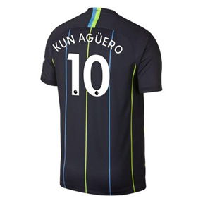 Nike Youth  Manchester City Aguero #10 Soccer Jersey (Away 18/19)