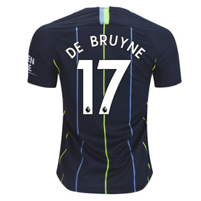 Nike Youth  Manchester City De Bruyne #17 Jersey (Away 18/19)