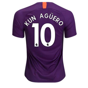 Nike  Manchester City Aguero #10 Soccer Jersey (Alternate 18/19)