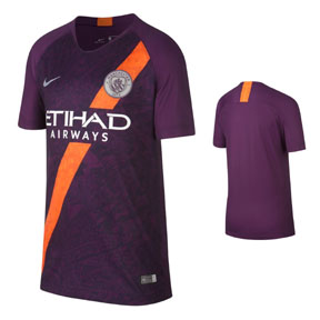 Nike Youth  Manchester City Soccer Jersey (Alternate 18/19)