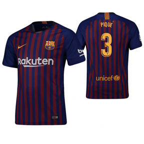 Nike  Barcelona Pique #3 Soccer Jersey (Home 18/19)