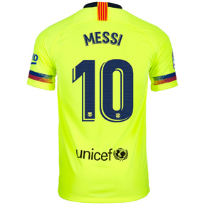 the latest 041c6 1c4fa Nike Youth Barcelona Lionel Messi #10 Soccer Jersey (Away 18 ...
