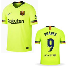 Nike Youth  Barcelona Suarez #9 Soccer Jersey (Away 18/19)