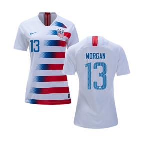 3de65a4a4 Nike Womens USA Alex Morgan  13 USWNT Jersey (Home 18 19 ...