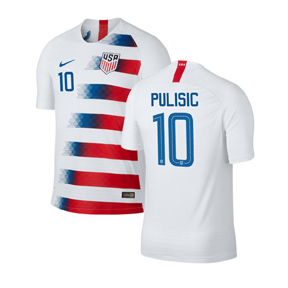 Nike  USA  Christian Pulisic #10 Soccer Jersey (Home 18/19)