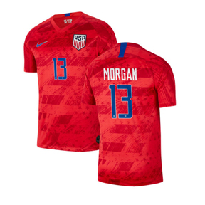 Nike  USA  Alex Morgan #13 Men's Soccer Jersey (Away 19/20)