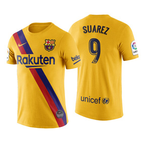 Nike Youth  Barcelona  Luis Suarez #9 Soccer Jersey (Away 19/20)
