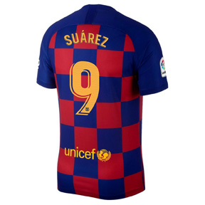 Nike Youth Barcelona Luis Suarez #9 Soccer Jersey (Home 19/20)
