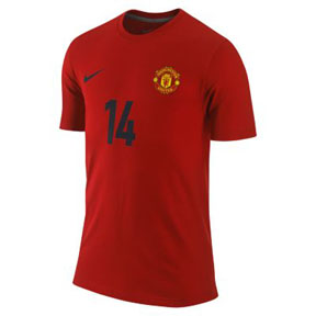 Nike Manchester United Chicharito #14 Hero Soccer Tee (Red)