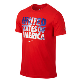 Nike USA World Cup 2014 Core Type Soccer Tee (Red)