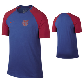 Nike Barcelona Match Soccer Tee (Royal Blue 16/17)