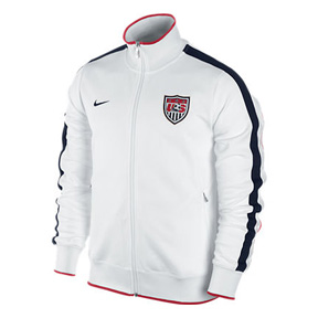 Nike USA Authentic N98 Soccer Track Top (White/Obsidian 11/12)