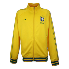 Nike Brazil Core Trainer Soccer Track Top (Varsity Maize)