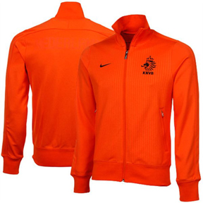 Nike Holland Authentic N98 Soccer Track Top (Safety Orange/Black)