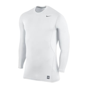 Nike Pro Combat HyperWarm Fitted 1.2 Crew Training Top (White)