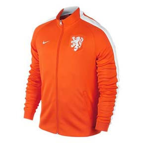 Nike Holland Authentic N98 Soccer Track Top (Safety Orange/White)