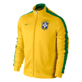 091d49749 Nike Brazil Authentic N98 Soccer Track Top (Maize/Green 14/15 ...