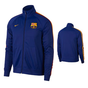Nike Barcelona Full-Zip Soccer Track Top (Deep Royal Blue 18/19)