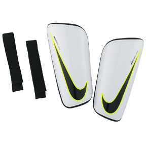 Nike Mercurial Hard Shell Shinguard (White/Volt/Black)