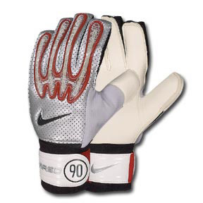 Nike GK Total 90 Wired Soccer Goalie Glove (Silver/Red)