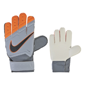 Nike Youth GK Match Soccer Goalie Glove (Wolf Grey/Orange)