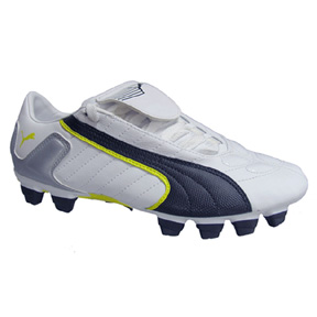 Puma v-Kon II FG Light Soccer Shoes (White/Black/Yellow)