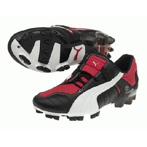 Puma v-Konstrukt III Gci FG Soccer Shoes (Black/Red/White)