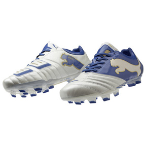 Puma Powercat 1.12 FG Soccer Shoes (White/Royal)