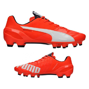 Puma evoSpeed 1.4 Leather FG Soccer Shoes (Lava Blast)