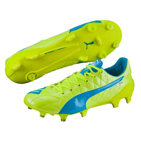 Puma evoSpeed  SL Leather FG Soccer Shoes (Safety Yellow)