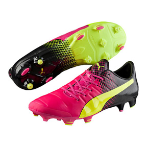 Puma evoPower  1.3 Tricks FG Soccer Shoes (Pink Glo/Yellow)