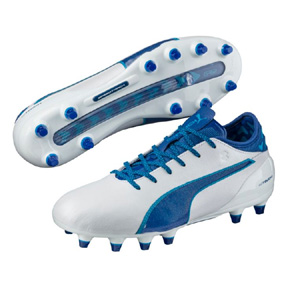 Puma evoTOUCH  2 FG Soccer Shoes (White/True Blue)