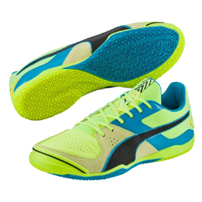 Puma Invicto Sala Indoor Soccer Shoes (Safety Yellow/Black)