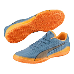 Puma Invicto Fresh Indoor Soccer Shoes (Orange/Teal)