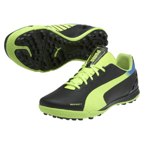 Puma evoSpeed 4.2 Turf Soccer Shoes (Black/Fluo Yellow)