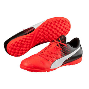 Puma Youth evoPower 4.3 Turf Soccer Shoes (Red Blast/White)