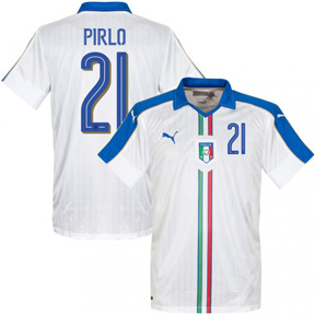 ad2877d97 Puma Italy Pirlo  21 Soccer Jersey (Away 16 17)   SoccerEvolution