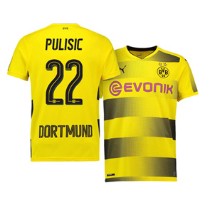 Puma Youth  Borussia Dortmund  Pulisic #22 Jersey (Home 17/18)