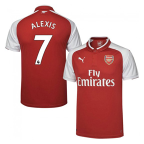 Puma  Arsenal  Alexis #7 Soccer Jersey (Home 17/18)