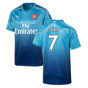 Puma  Arsenal  Alexis #7 Soccer Jersey (Away 17/18)