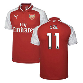 Puma Youth  Arsenal  Ozil #11 Soccer Jersey (Home 17/18)