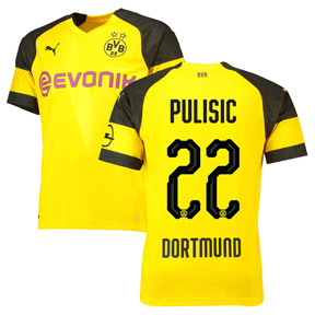 Puma Youth  Borussia Dortmund Pulisic #22 Jersey (Home 18/19)