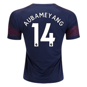 Puma Youth  Arsenal Aubameyang #14 Soccer Jersey (Away 18/19)