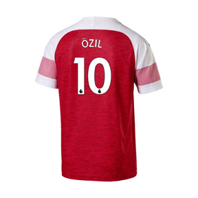 Puma Youth  Arsenal Ozil #10 Soccer Jersey (Home 18/19)