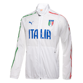 Puma Italy Walk Out Soccer Training Jacket (White/Green/Blue)