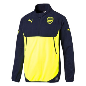 Puma Arsenal Fleece Soccer Training Top (Peacoat/Safety Yellow)