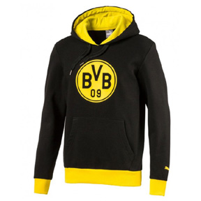 Puma Borussia Dortmund  Graphic Hoody (Black/Yellow)