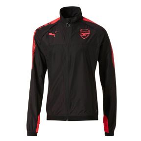 Puma  Arsenal  Stadium Vent Thermo-R Soccer Jacket (Black/Plasma)