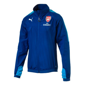 Puma  Arsenal  Stadium Vent Thermo-R Soccer Jacket (Blue Danube)