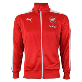 Puma  Arsenal  T7 Soccer Track Top Jacket (Red/White)